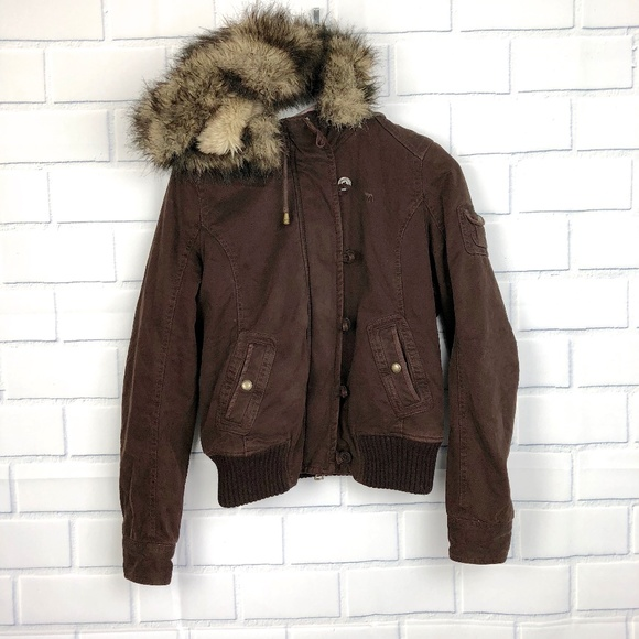 Abercrombie & Fitch Jackets & Blazers - Abercrombie & Fitch Faux Fur Lined Winter Coat LG